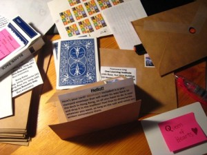 Putting together the cards to send out