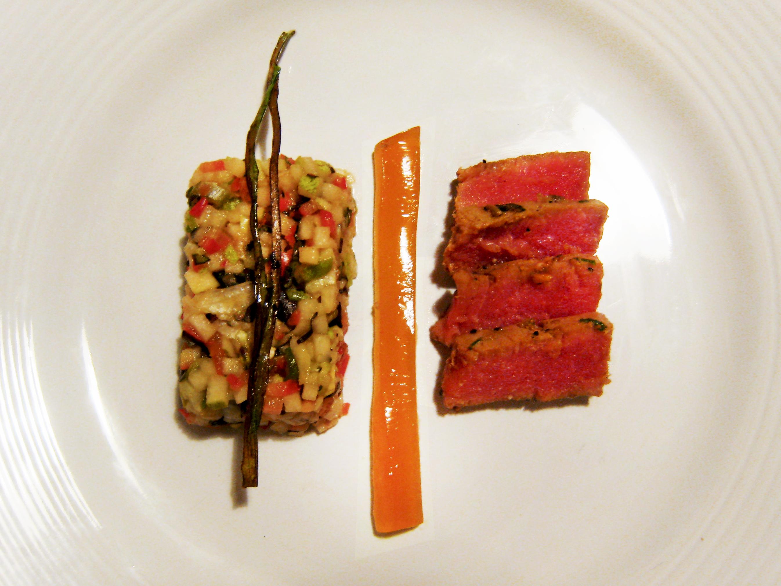 "Seared Ahi Tuna & Chile Gelée ""Salad"""