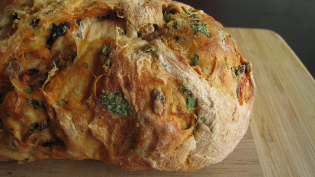 A Loaf of Tomato Olive Herb